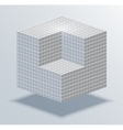 modern cube business background vector image vector image