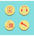 musical buttons on blue background vector image vector image