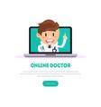 online doctor banner template online medicine vector image