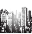 Panorama of the city cartoon vector image