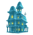 Preview scary haunted house in halloween on white vector image vector image