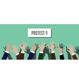 protest people crowd with hands vector image vector image