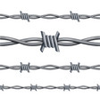 realistic 3d detailed barbed wire line set vector image vector image