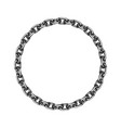 round chain frame flat design vector image vector image