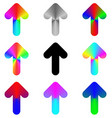 Rounded rainbow arrow icon design set vector image vector image