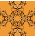 Seamless oriental Print on orange background vector image vector image