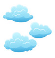 set blue clouds on white background vector image vector image
