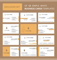 set of 12 coffee creative busienss card template vector image vector image