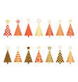 set of assorted christmas trees vector image vector image