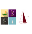 set of medecine icons in flat style with shadow vector image vector image