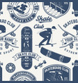 skateboard and longboard club seamless pattern or vector image