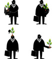 Thinking about ecology vector image vector image