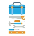 Toolbox with tools vector image