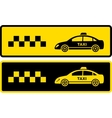 two black and yellow taxi icons vector image