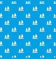 vietnamese junk boat pattern seamless blue vector image vector image