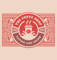 vintage coffee label layered vector image vector image