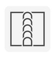 welding joint icon design vector image vector image