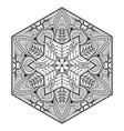 mandala flower decoration vector image