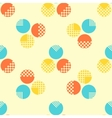 Abstract seamless pattern with geometrical objects vector image