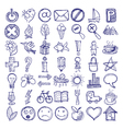 49 hand draw web doodle icon design elements vector image