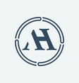 a h logo design vector image