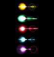a set of colored solar lens flare a translucent vector image