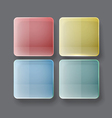 Abstract tile interfase template vector image vector image