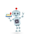 ai artificial intelligence technology robot is vector image vector image