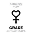 astrology asteroid grace vector image vector image
