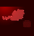 austria map from 3d red cubes isometric abstract vector image vector image