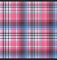 blue pink abctract check plaid seamless pattern vector image vector image