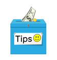 blue tip box full cash vector image vector image
