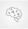 brain icon sign symbol vector image vector image