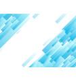 bright blue diagonal technology geometric vector image vector image