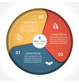 business pie chart diagram data 3 vector image vector image