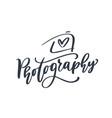 camera photography logo icon template vector image