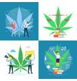 cannabis legalization poster set flat vector image