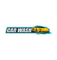 car wash logo template vector image vector image