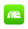 cave painting icon green vector image