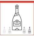 Christmas champagne bottle icon vector image vector image