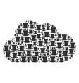 cloud composition of gentleman hat icons vector image vector image