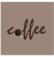 coffee cup background brown color image vector image