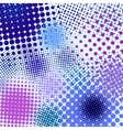 Color different abstract halftone vector image vector image