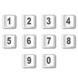 computer key numbers vector image vector image