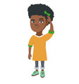 confused african-american girl scratching head vector image
