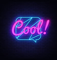 cool neon text comic lettering cool neon vector image
