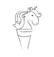 cute unicorn cartoon vector image vector image