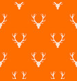 deer antler pattern seamless vector image vector image