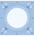 delft blue empty vector image vector image