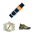 design of mountaineering and peak icon vector image